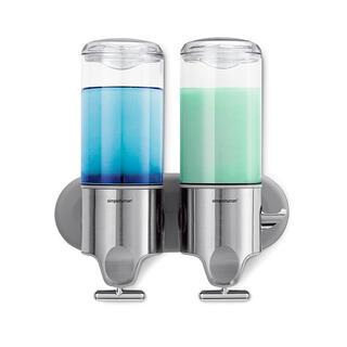 Dispenser de perete pentru săpun lichid Simplehuman, 2 compartimente