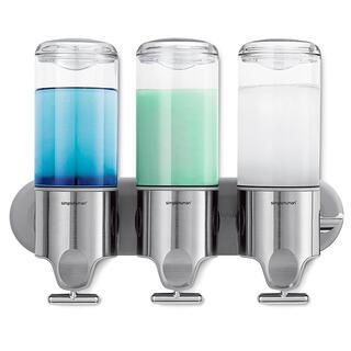 Dispenser de perete pentru săpun lichid Simplehuman, 3 compartimente