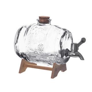 Butoiaş din sticlă cu robinet şi suport, 1 L