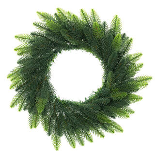 Coroniţă de Crăciun artificială cu brad, vârfuri deschise, diam. 50 cm