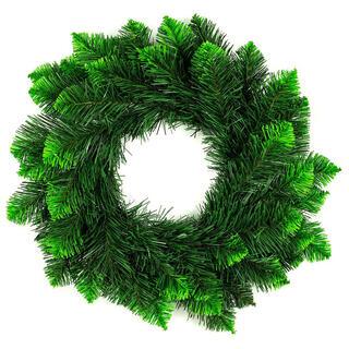 Coroniţă de Crăciun artificială, vârfuri verzi, diam. 50 cm