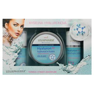Casetă cadou cosmetice cu acid hialuronic şi lapte pentru fermitate