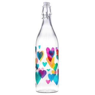 Sticlă cu închidere clip LOVE RAINBOW 1L