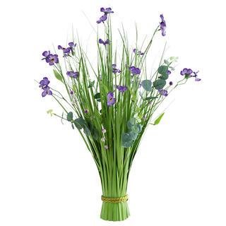 Mănunchi de iarbă ornamentală, flori mov, 70 cm