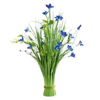 Mănunchi de iarbă ornamentală, flori albastre, 70 cm