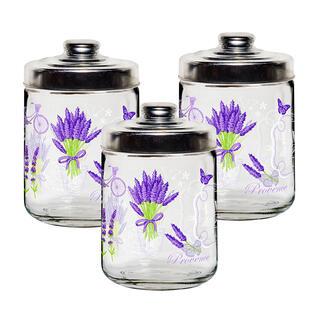 Set borcane decorative LAVANDE 800 ml, 3 buc