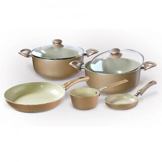 Set de cratiţe ceramice CHAMPAGNE, 7 piese