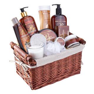 Set de cosmetice cu ulei de argan în coş cadou