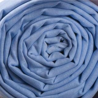 Așternut de pat din bumbac 140 x 230 cm de culoare albastră