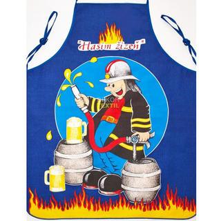 Șorț de bucătărie - pompier albastru