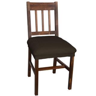 Huse multielastice CARLA maro, scaun 2 buc (40 x 40 cm)