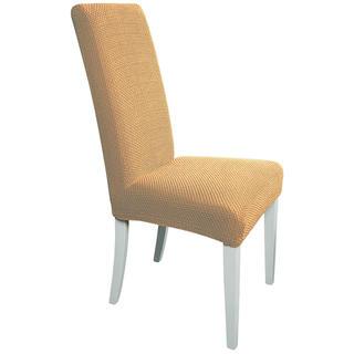 Huse multielastice CARLA gold, scaun cu spatar 2 buc (40 x 40 x 60 cm)