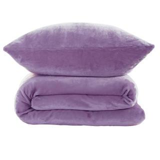 Lenjerie de pat din micropluş violet