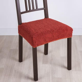 Huse care se întind foarte bine GLAMOUR cărămizie scaun 2 buc (40 x 40 cm)