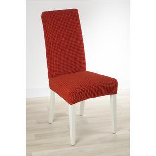 Huse care se întind foarte bine GLAMOUR cărămizie scaun cu spatar 2 buc (40 x 40 x 60 cm)