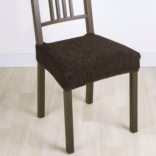Huse care se întind foarte bine GLAMOUR maro scaun 2 buc (40 x 40 cm)