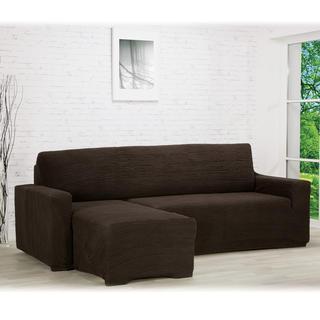 Huse care se întind foarte bine GLAMOUR maro canapea cu otoman stânga (l. 210 - 270 cm)