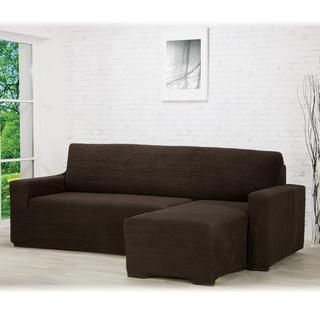 Huse care se întind foarte bine GLAMOUR maro canapea cu otoman dreapta (l. 210 - 270 cm)