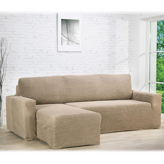 Huse care se întind foarte bine GLAMOUR alunei canapea cu otoman stânga (l. 210 - 270 cm)