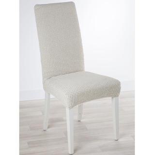 Huse care se întind foarte bine GLAMOUR smântânii, scaun cu spatar 2 buc (40 x 40 x 60 cm)