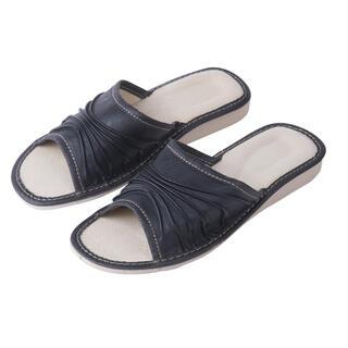 Papuci femei din piele cu platforma
