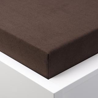 Cearșaf cu elastic frotir EXCLUSIVE de culoarea ciocolatei