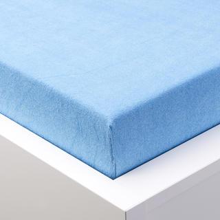 Cearșaf cu elastic frotir EXCLUSIVE albastru