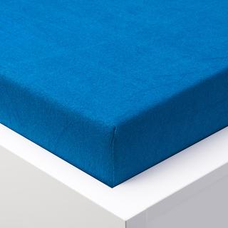 Cearșaf cu elastic frotir EXCLUSIVE de culoare albastru regal