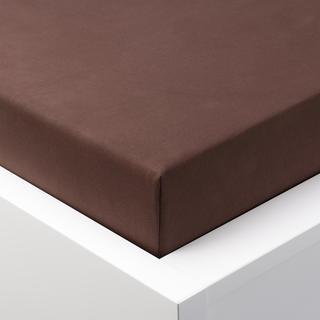 Cearșaf cu elastic jersey EXCLUSIVE de culoarea ciocolatei