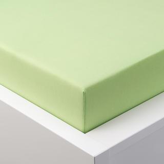 Cearșaf elastic jersey cu elastan verde, 90 x 200 cm