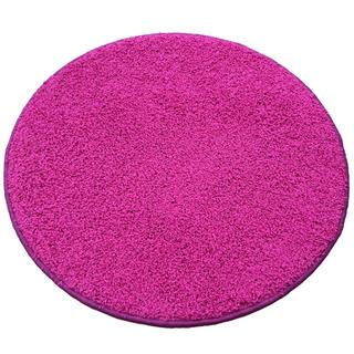 Covor rotund SHAGGY roz
