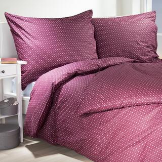 Lenjerie de pat din bumbac Hermína de culoarea vinului