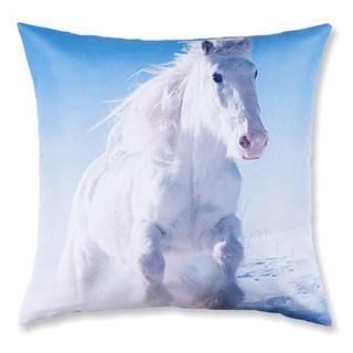 Față de pernă decorativă cal alb în galop