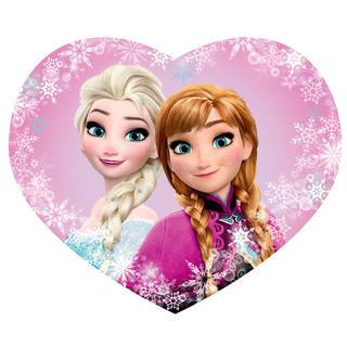 Pernă de copii profilată FROZEN Elsa și Anna 31 x 24 cm