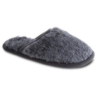 Papuci de casa cu talpa anti-alunecare gri