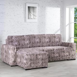 Huse bielastice ASTRATO maro canapea cu otoman stânga (l. 170 - 200 cm)