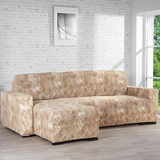 Huse bielastice ASTRATO bej, canapea cu otoman stânga (l. 170 - 200 cm)