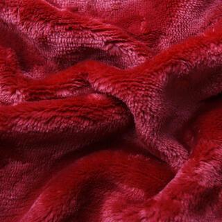 Asternut elastic SLEEPWELL microplus bordo