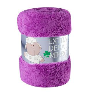 Pătură cu două fețe Oiță violet