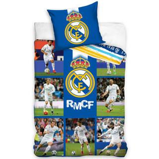 Lenjerie de pat din bumbac FC Real Madrid