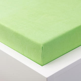 Cearșaf cu elastic frotir EXCLUSIVE de culoare verde măr