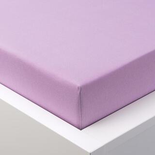 Cearșaf cu elastic frotir EXCLUSIVE violet deschis