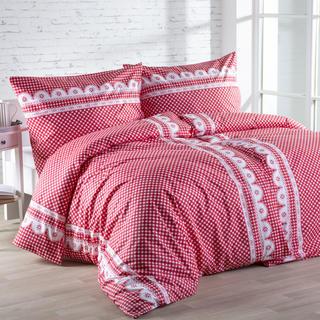 Lenjerie de pat din bumbac Matylda roşie