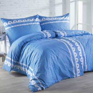 Lenjerie de pat din bumbac Matylda albastră
