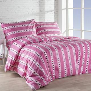 Lenjerie de pat din bumbac BARUNKA de culoarea zmeurei