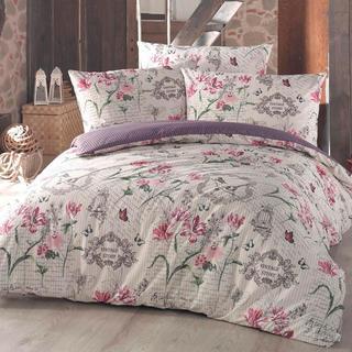 Lenjerie de pat din bumbac Valerie, violet