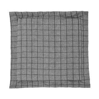 Pernă pentru scaune Indie cu tiv decorativ gri-negru cu grila 38 x 38 cm