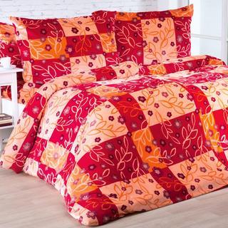 Lenjerie de pat din micropluș SARAH vișinie