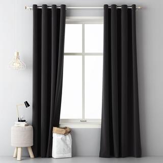 Draperie decorativă Easy negru 2 buc