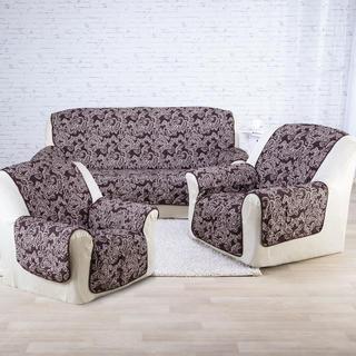 Cuverturi pentru canapea şi fotoliu cu braţe, ciocolată